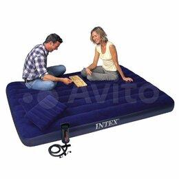 Надувная мебель - Матрасы надувные с насосом Intex все модели, 0