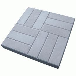 Тротуарная плитка, бордюр - Тротуарная плитка бетонная 500.500.60 «12 кирпичей, 0