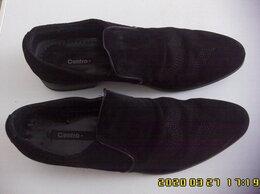 Туфли - Туфли мужские, чёрные, замшевые, натур.кож.,42 р., 0