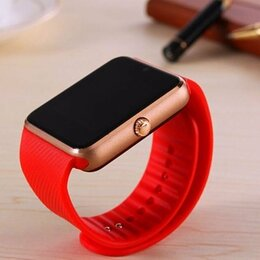 Умные часы и браслеты - Умные часы smart watch GT08 красного цвета - новые, 0