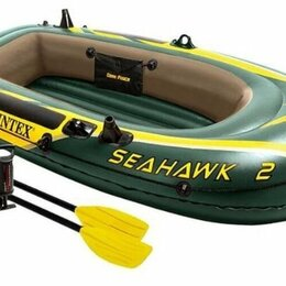 Аксессуары и комплектующие - Лодка Seahawk 236х114х41см (руч. нас., пластм. весла) Intex, 0