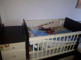Кроватки - Детская кроватка с маятником и комодом, 0
