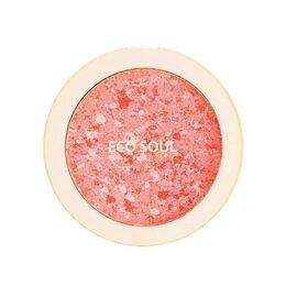 Для лица - Компактные румяна The Saem Eco Soul Carnival Blush Coral, 0