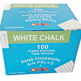 Стамески - Мелки белый круглый HK02-0908A 100шт в уп. /48/, 0