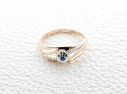 Кольца и перстни - Кольцо с сапфиром и 12 бриллиантами из красного…, 0