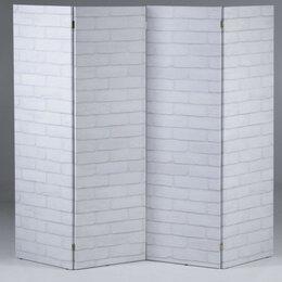 """Ширмы - Ширма """"Кирпичная стена"""", 200 × 160 см, 0"""