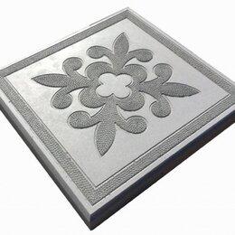 Тротуарная плитка, бордюр - Тротуарная плитка 300*300*30 краковский квадрат серая, 0