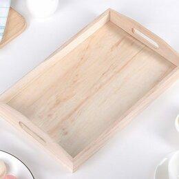 Прочее оборудование - Деревянный поднос для выпечки 30*40 см, 0