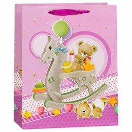 Развивающие игрушки - Пакет Лошадка-качалка, пурпурный, 26*32*12 см, 0
