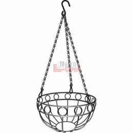 Горшки, подставки для цветов - Подвесное кашпо, диаметр 26 см, высота с цепью и крюком 53,5 см// PALISAD, 0