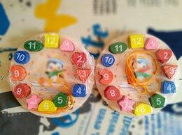 Пазлы - Деревянные часы-пазлы Развивающая игрушка, 0