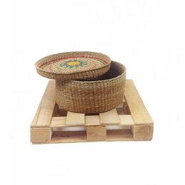 Корзины, коробки и контейнеры - Корзина плетеная круглая из Морокко б.у, 0