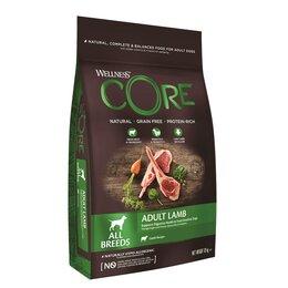 Корма  - Сухой корм для взрослых собак всех пород Wellness Core из ягненка с яблоком ..., 0