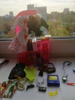 Аксессуары для кукол - Гардероб для куклы Барби-шкаф, одежда, аксессуары, 0