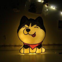 """Ночники и декоративные светильники - Подарок на день рождения Мягкий ночник """"Toys is..."""" Хаски , 0"""
