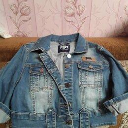 Пиджаки - Джинсовый укороченный пиджак., 0