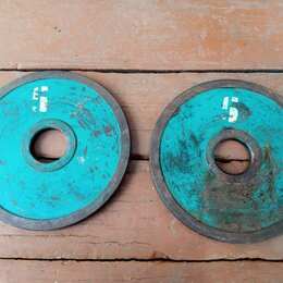 Аксессуары для силовых тренировок - Блины для штанги по 5кг- 2штуки, 0