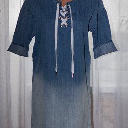 Платья - Джинсовое платье рр 46+- новое, 0