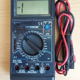 Измерительные инструменты и приборы - Мультиметр цифровой  DT890B+ , 0