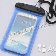Чехлы - Водонепроницаемый чехол для телефонов синий, 0