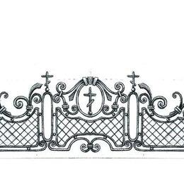 Ритуальные товары - Оградка кованая на кладбище, 0