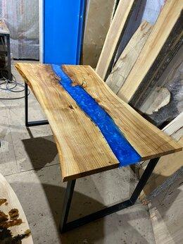 Столы и столики - Стол-река из слэба и эпоксидной смолой, 0