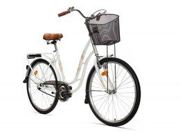 Велосипеды - Велосипед Аист городской Танго с корзиной бежевый, 0