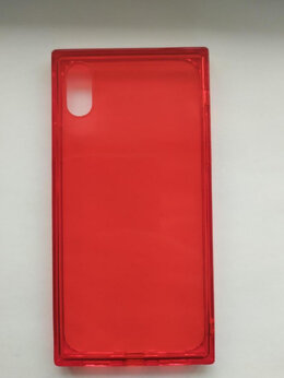 Чехлы - Красный чехол для iPhone X / XS (новый), 0