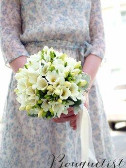Свадебные украшения - Свадебный букет для невесты из белых фрезий, 0