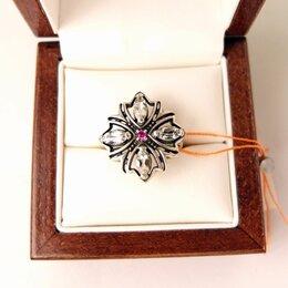 Кольца и перстни - 💖 Кольцо серебяряное с горным хрусталём в футляре, размер 16, 0