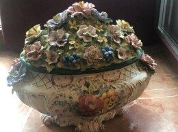Декоративная посуда - Антикварная декоративная ваза/вазон с крышкой., 0
