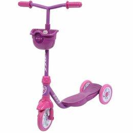 Самокаты - Самокат городской Foxx (Фокс) Baby Фиолетовый, с корзинкой, 0