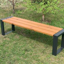 Скамейки - Скамейка садово-парковая «Forest slim» 1600 из термососны, MIROZDANIE, 0