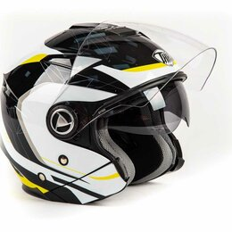 Мотоэкипировка - Шлем THH T - 396 YEL/WHT ADAPTER (XL), 0