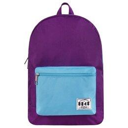 Рюкзаки - Рюкзак 8848 Фиолетовый с голубым карманом, 0