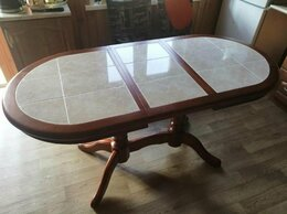 Столы и столики - Обеденный стол Грэксон-2 овальный из массива 💥…, 0