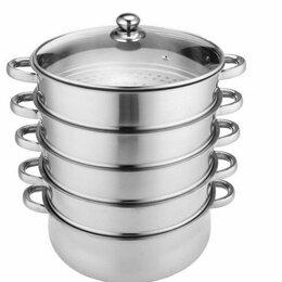 Кастрюли и ковши - Новая посуда кастрюля мантоварка мантышница пароварка нержавейка, 0