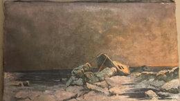"""Картины, постеры, гобелены, панно - Картина """"Лодка на берегу моря"""", 0"""