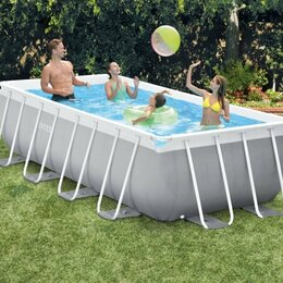 Бассейны - 26788 Каркасный бассейн прямоугольный INTEX Prism Frame Pool 400 х 200 х 100 см., 0