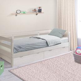 Кровати - Кровать массив с ящиками и матрасом новая, 0