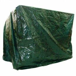 Садовые качели - Чехол-укрытие для садовых качелей из полимера 240х145 (зеленый), 0