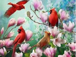 Рукоделие, поделки и товары для них - Алмазная мозаика Paintboy птичка на яблоне, 0