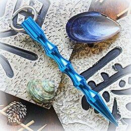 Ключи и брелоки - Тактический брелок Kubotan Blue Aluminum, 0