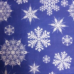 Влажные салфетки - Салфетки синие бел снежинки 33х33, 0