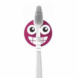 Зубные щетки - Держатель для зубной щётки Emoji фиолетовый, 0