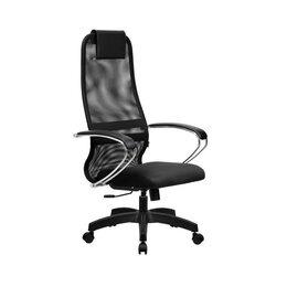 Компьютерные кресла - Компьютерное кресло BK-8 черная сетка офисное, 0
