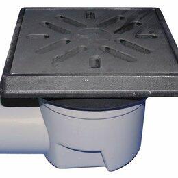 Бра и настенные светильники - HL605.1/1 Дворовй трап DN110 с горизонтальным выпуском, чугунным подрамником и р, 0