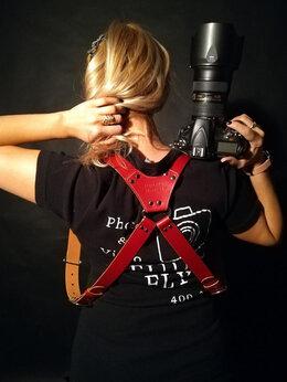 Сумки, чехлы для фото- и видеотехники - Разгрузка для фотографа из натуральной кожи , 0