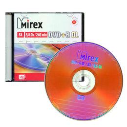 Диски - Диск DVD+R 8.5Gb Mirex 8 speed (slim) Double Layer, 0