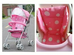 Аксессуары для колясок и автокресел - Новый матрас-вкладка в коляску, стул (розовых в…, 0